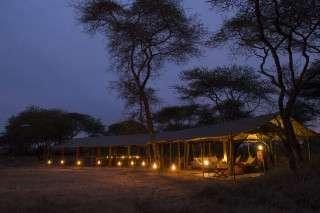Serengeti Safari Camp at night