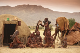Local Himba village